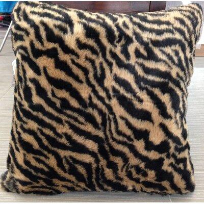 Kronburgh Animal Faux Fur Throw Pillow Color: Brown/Black