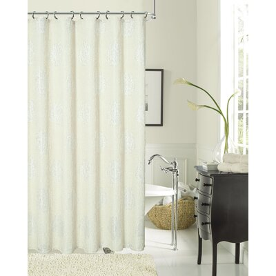 Phoebe Textured Fabric Shower Curtain Color: Natural