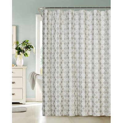 Whetsel Textured Fabric Shower Curtain Color: Silver