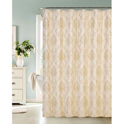 Phoenix Fabric Shower Curtain Color: Champagne
