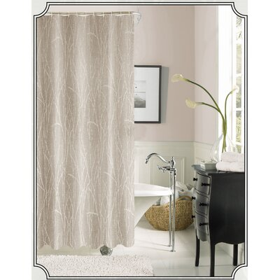 Irvin Printed Fabric Shower Curtain Color: Taupe