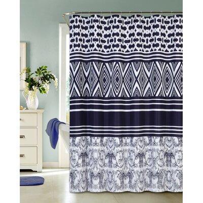 Dunluce Diamonds Printed Fabric Shower Curtain