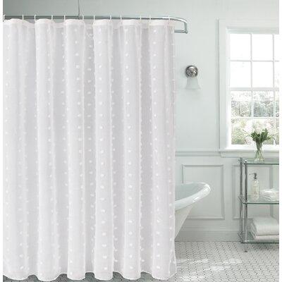 Liah Linen Look Fabric Shower Curtain