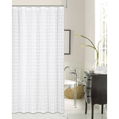 Dulce Cut Flower Linen Look Fabric Shower Curtain