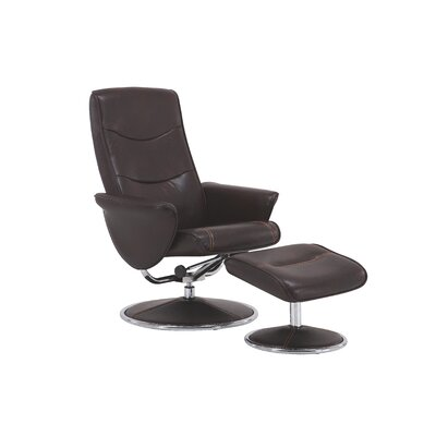 Haverty Glam High Back Manual Swivel Recliner with Ottoman