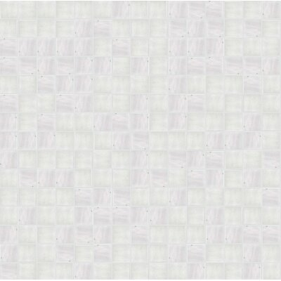 Jewel 13 x 13 Glass Mosaic Tile in Semi-Gloss Gray
