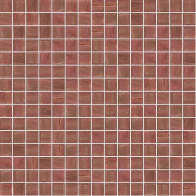 Jewel 13 x 13 Glass Mosaic Tile in Semi-Gloss Brown
