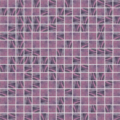 Jewel 13 x 13 Glass Mosaic Tile in Semi-Gloss Purple