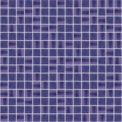 Jewel 13 x 13 Glass Mosaic Tile in Semi-Gloss Purple
