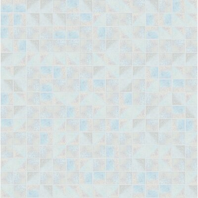Glare 13 x 13 Glass Mosaic Tile in Blue/Gray