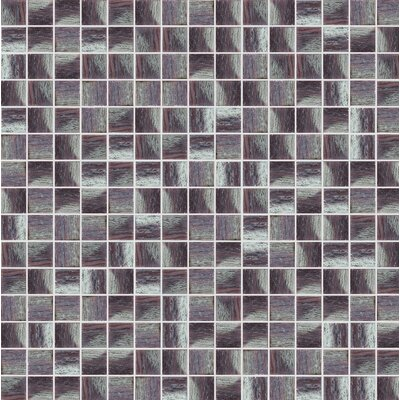 Glare 13 x 13 Glass Mosaic Tile in Purple/Gray
