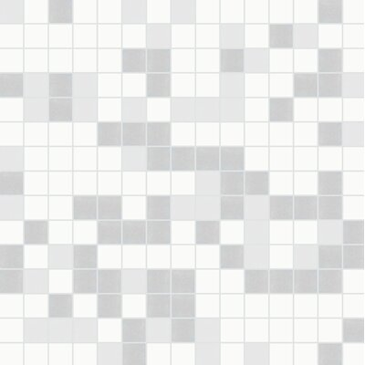 Standard Mix 13 x 13 Glass Mosaic Tile in White/Gray