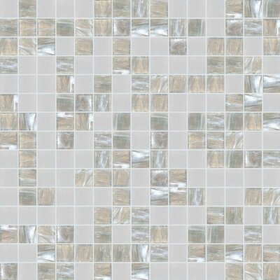 Standard Mix 13 x 13 Glass Mosaic Tile in Gray/Beige