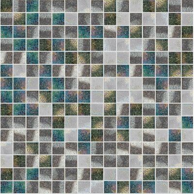 Standard Mix 13 x 13 Glass Mosaic Tile in Gray/Green