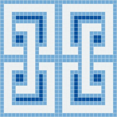 Urban Essentials Interlocking 3/4 x 3/4 Glass Glossy Mosaic in Lakefront Blue