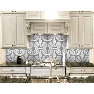 Urban Essentials Gothic Ornament 3/4 x 3/4 Glass Glossy Mosaic in Calm Grey