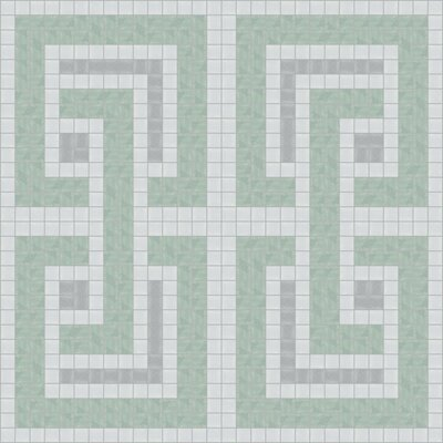 Urban Essentials Interlocking 3/4 x 3/4 Glass Glossy Mosaic in Placid Turquoise