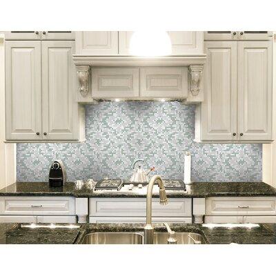 Urban Essentials Cepko Ikat 3/4 x 3/4 Glass Glossy Mosaic in Placid Turquoise