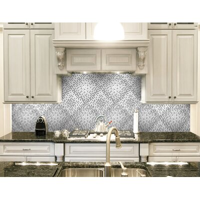 Urban Essentials Scatter 3/4 x 3/4 Glass Glossy Mosaic in Calm Grey