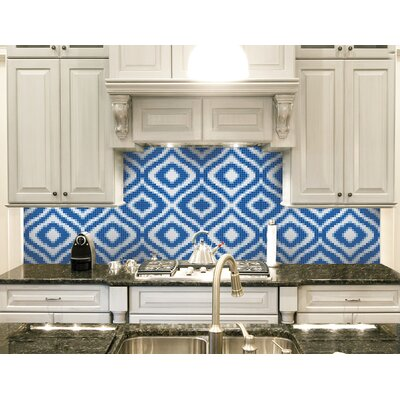 Urban Essentials Groovy 3/4 x 3/4 Glass Glossy Mosaic in Lakefront Blue