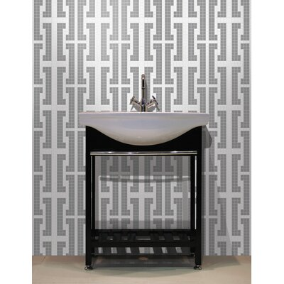 Urban Essentials Bold Chain 3/4 x 3/4 Glass Glossy Mosaic in Calm Grey