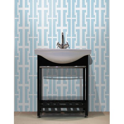 Urban Essentials Bold Chain 3/4 x 3/4 Glass Glossy Mosaic in Breeze Blue