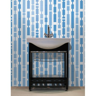 Urban Essentials Marimba 3/4 x 3/4 Glass Glossy Mosaic in Lakefront Blue