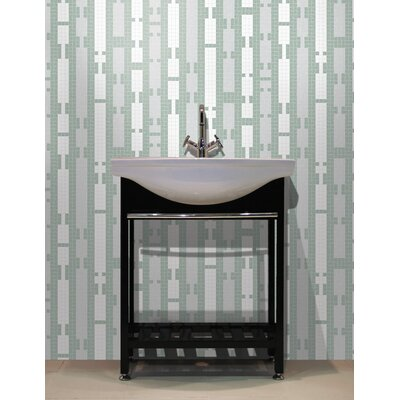 Urban Essentials Marimba 3/4 x 3/4 Glass Glossy Mosaic in Placid Turquoise