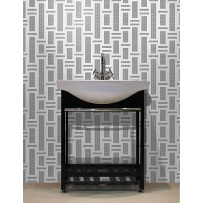 Urban Essentials Modern Bamboo 3/4 x 3/4 Glass Glossy Mosaic in Calm Grey