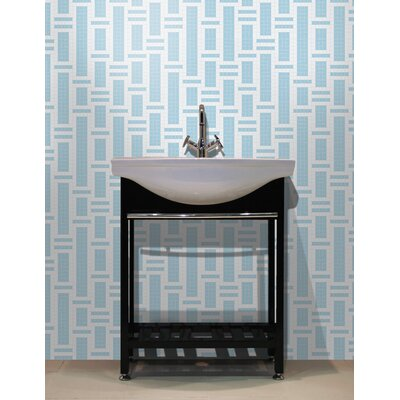 Urban Essentials Modern Bamboo 3/4 x 3/4 Glass Glossy Mosaic in Breeze Blue