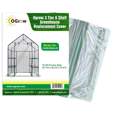 3 Tier 6 Shelf Greenhouse Replacement Cover OGRC6834-S