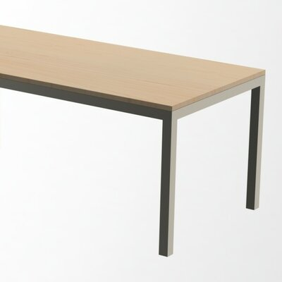 Loft Dining Table Base Finish: Gloss Silver, Top Finish: Maple