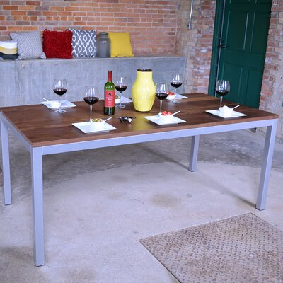 Loft Dining Table Top Finish: Maple, Base Finish: Warehouse Metal