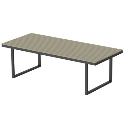 Kinzie Dining Table Base Finish: Checker Black, Top Finish: Sahara Sand, Table Size: 96 L x 42 W