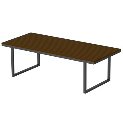 Kinzie Dining Table Base Finish: Checker Black, Top Finish: Venetian Cocoa, Table Size: 96 L x 42 W