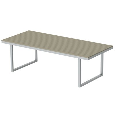 Kinzie Dining Table Top Finish: Sahara Sand, Base Finish: Miners Silver, Table Size: 96 L x 42 W