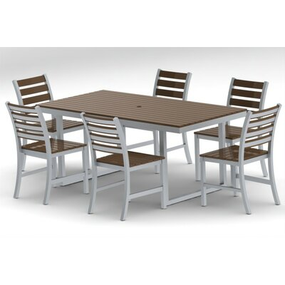 Kinzie Outdoor Modern 7 Piece Dining Set
