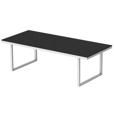 Kinzie Dining Table Top Finish: Black, Base Finish: Loft White, Table Size: 96 L x 42 W