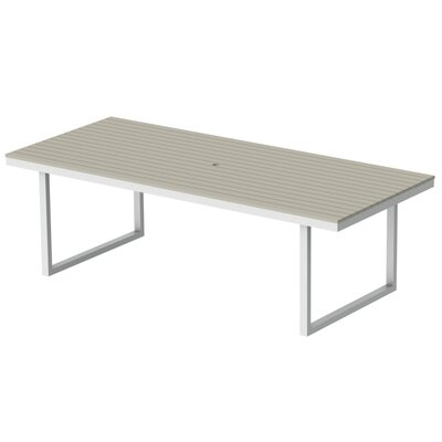 Kinzie Dining Table Top Finish: Sahara Sand, Base Finish: Loft White, Table Size: 96 L x 42 W