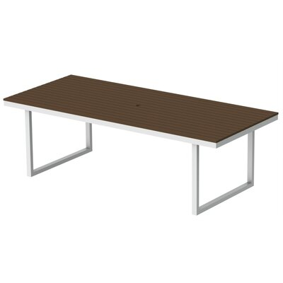 Kinzie Dining Table Top Finish: Venetian Cocoa, Base Finish: Loft White, Table Size: 96 L x 42 W