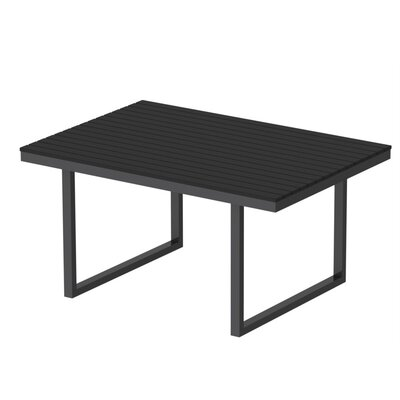 Kinzie Dining Table Top Finish: Black, Base Finish: Miners Silver, Table Size: 96 L x 42 W