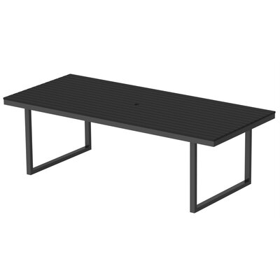 Kinzie Dining Table Base Finish: Checker Black, Top Finish: Black, Table Size: 96 L x 42 W