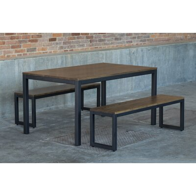 Loft 3 Piece Dining Set Top Finish: Chocolate Spice