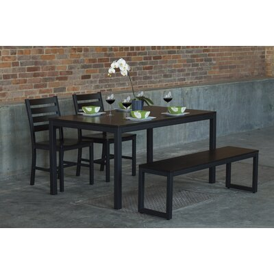 Loft 4 Piece Dining Set Top Finish: Onyx