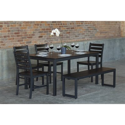 Loft  6 Piece Dining Set Top Finish: Onyx
