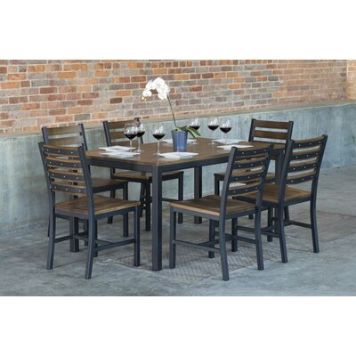 Loft 7 Piece Dining Set Top Finish: Chocolate Spice