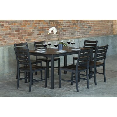 Loft 7 Piece Dining Set Top Finish: Onyx