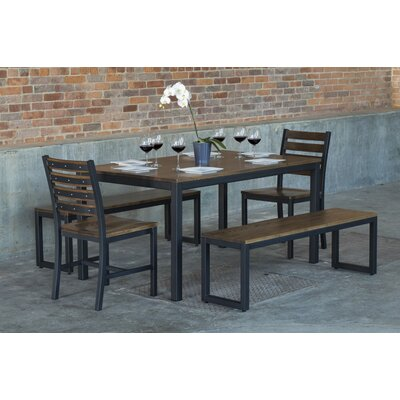 Loft  5 Piece Dining Set Top Finish: Chocolate Spice