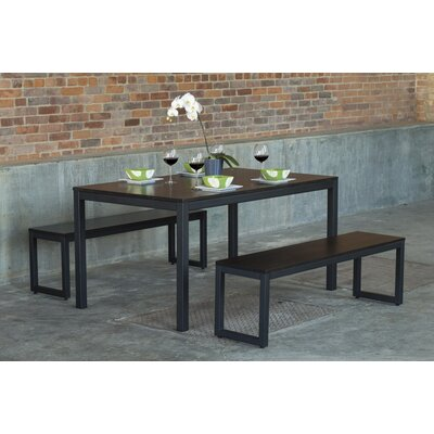 Loft 3 Piece Dining Set Top Finish: Onyx