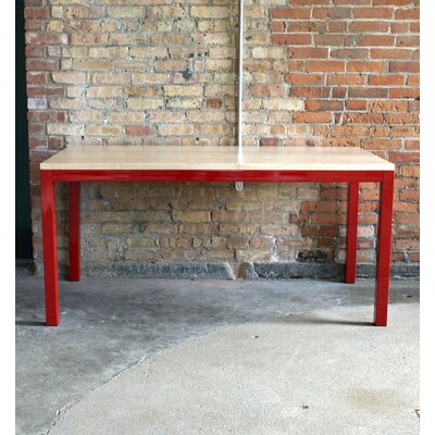 Loft 60x30 Dining Table Top Finish: Maple, Base Finish: Gloss Red